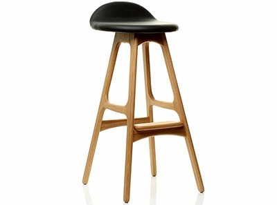 Erik Buch Bar Stool Model 61 (Platinum Replica)