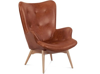 Grant Featherston Contour Chair Leather | Platinum Replica