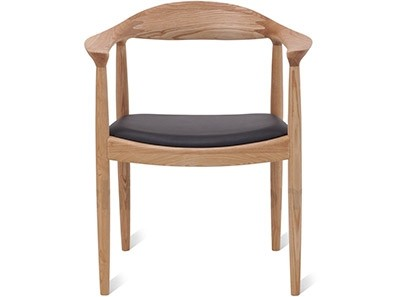 Hans Wegner Round Chair (Platinum Replica)
