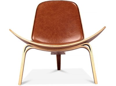 Hans Wegner Shell Chair Leather | Platinum Replica