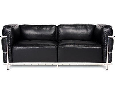 Le Corbusier LC3 Sofa 2 Seater Grand Confort (Collector Replica)