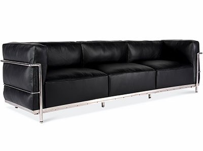 Le Corbusier LC3 Sofa 3 Seater Grand Confort (Collector Replica)