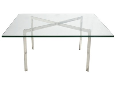 Barcelona Coffee Table by Mies van der Rohe - 19mm Glass (Replica)