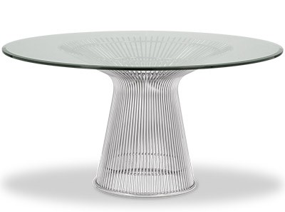 Platner Dining Table 137cm (Platinum Replica)