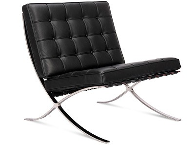 Barcelona Chair by Mies van der Rohe (Platinum Replica)