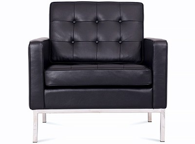 Florence Knoll Armchair Leather (Platinum Replica)