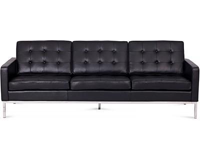 Florence Knoll Sofa 3 Seater Leather (Platinum Replica)