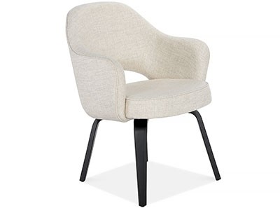 Saarinen Executive Armchair - Wood Legs (Platinum Replica)