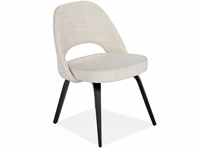 Saarinen Executive Side Chair - Wood Legs (Platinum Replica)