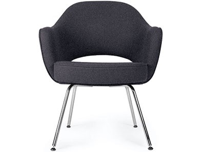 Saarinen Executive Armchair (Platinum Replica)