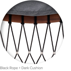 Black Rope + Dark Cushion