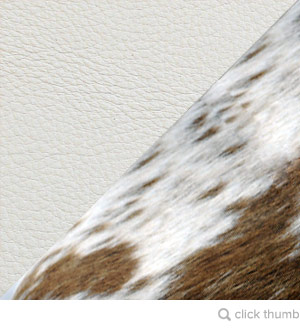Brown + White Cowhide / White Aniline Leather